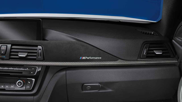 d9285d2d826 BMW M Performance carbon interior trim finishers with Alcantara