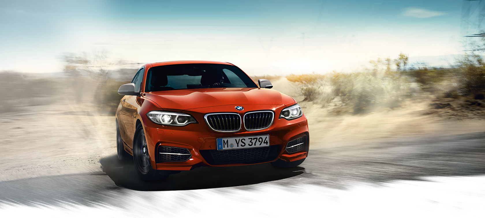 BMW 2-Series Coupe orange: plains drifting