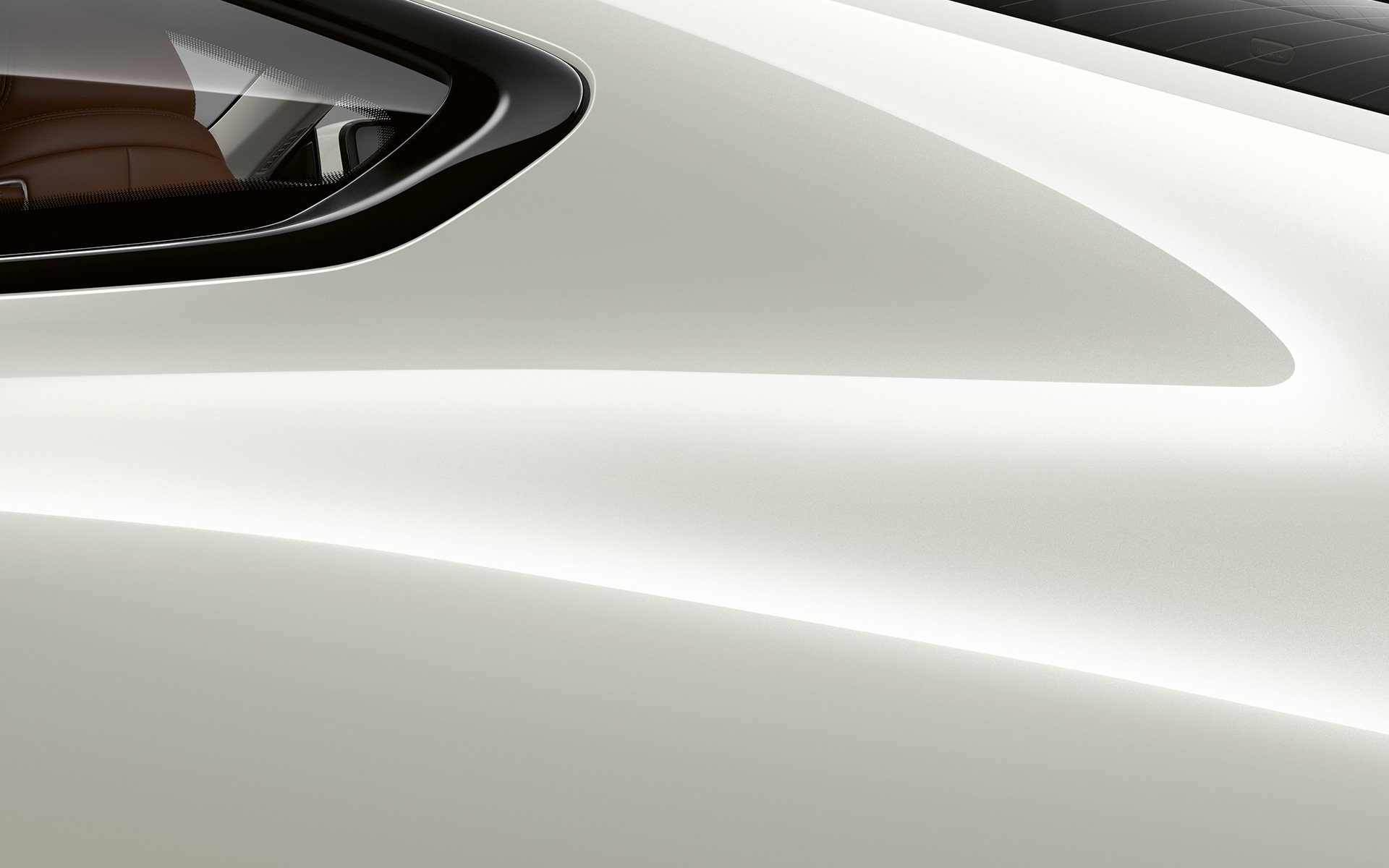 Close-up of the C pillar of the BMW 8 Series Coupé in Bluestone metallic.