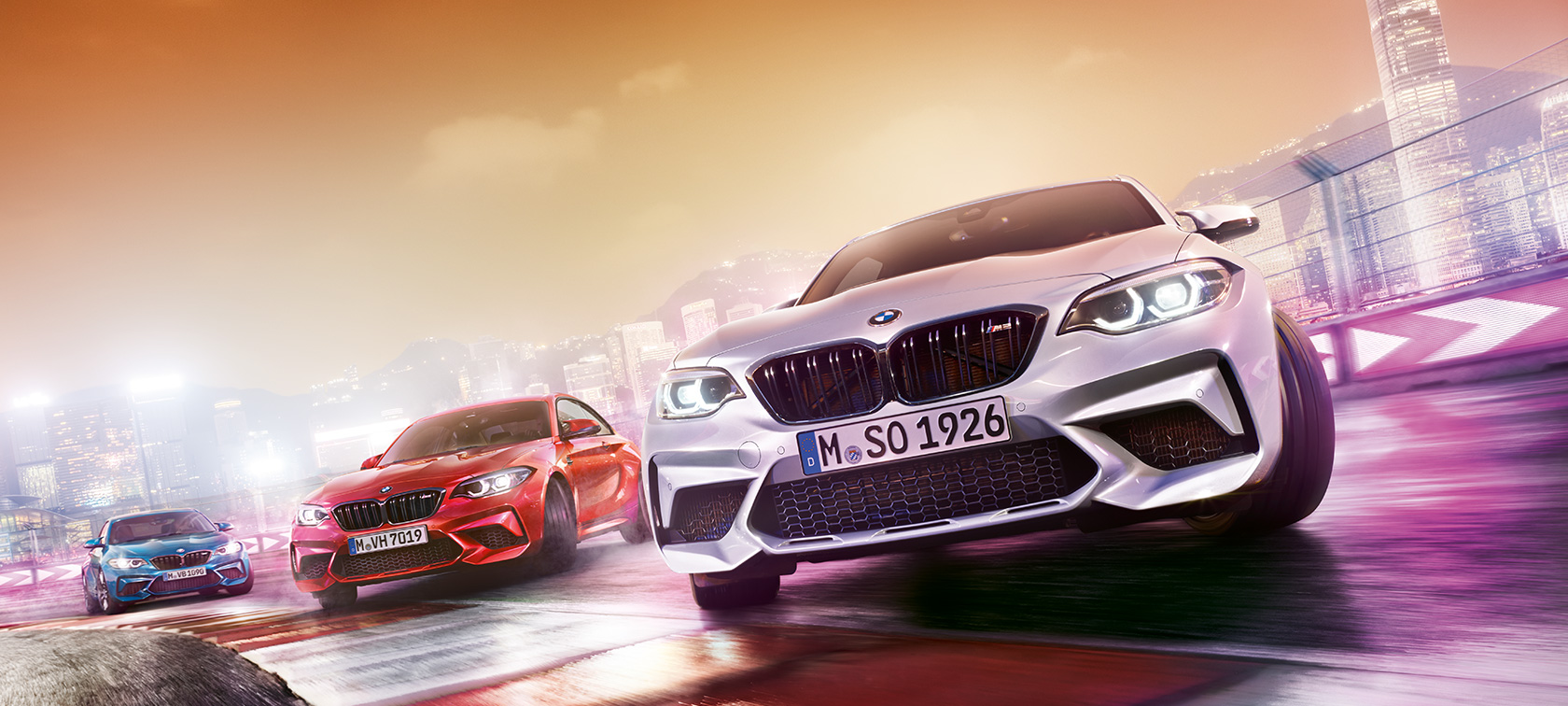 BMW M-Series M2 Coupe: metallic, red, blue